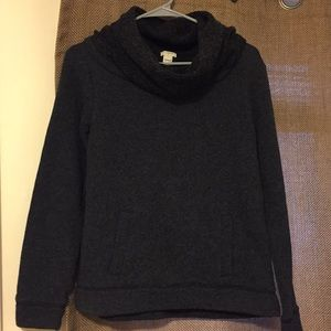 J. Crew dark gray cowl neck sweater